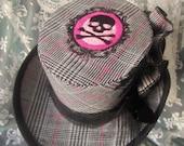 Machine Embroidered design, Gothic, Victorian, Halloween, Steampunk, Costume, Mini Top Hat