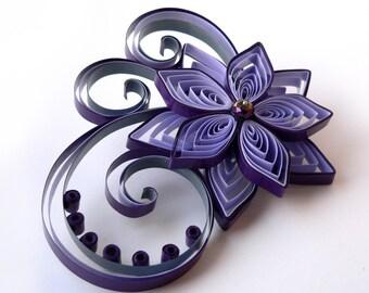 Purple Fascinator, Purple Wedding Hair Accessory, Purple Bridal Statement Hair Piece