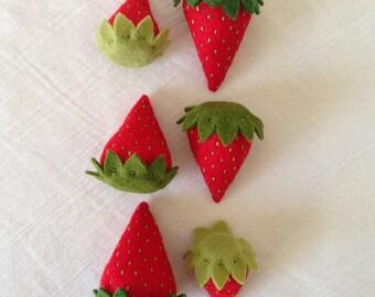Tea Party Felt Food Strawberries-Pretend Play