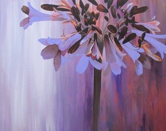 OOAK - Original Acrylic Painting - by Nicole Cijs - Title: Agapanthus