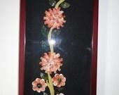 Seashell Flower Art in 3D Frame, Seashell Wall art Decore, 3D Sea Shell Flower Collage