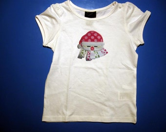 Baby one piece or toddler tshirt - Embroidery and appliqued santa ribbon beard
