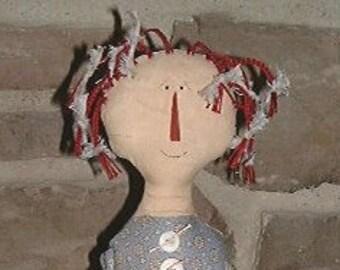 "PATTERN Primitive 19"" Rag Doll Aurellia Digital Download"