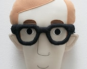 Woody Allen Pillow Face - MADE TO ORDER
