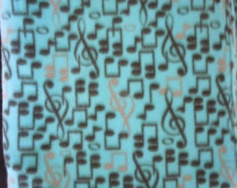 NEW - Blue Music Fleece Blanket - Extra Large