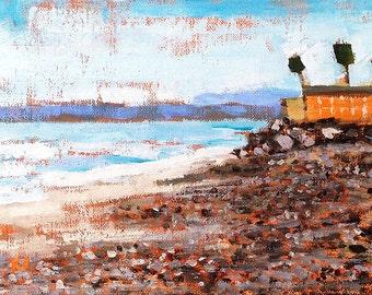 San Clemente Beach Painting- Landscape Painting