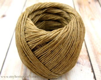 Beeswaxed Hemp Twine, Natural Eco Friendly 1mm Waxed Twine, 250ft