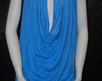 Modal Supima knit jersey fabric high End t-shirt material 5 0z Malibu Blue