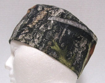 Mens Scrub Cap, Surgical Cap or Skull Cap Mossy Oak Forest Camouflage