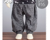 Baby sarouel pants pattern // baggy pants sewing pattern // pdf and tutorial, sizes 0M-6T  -Pattern 16