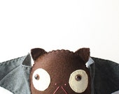 Felt Plush Stuffed Bat With Baby