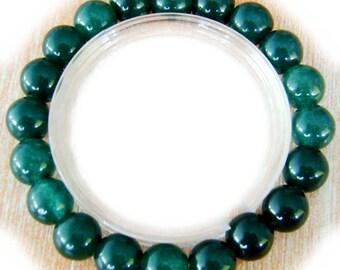 8mm Jade Gemstone Prayer Beads Meditation Yoga Bracelet/Length In About 170mm  T0748