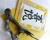 Chinese Calligraphy (JOY) handmade birthday card baby joy invitation custom card baby shower wedding invitation design by calligraphytzl