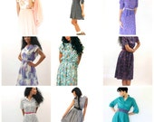 Vintage Lot of Ten Dresses for Resale or Wear Retro Womens Clothing Bulk Small Medium Large 80s 70s 60s