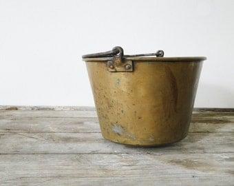 Antique 1800s Brass Kettle/Bucket