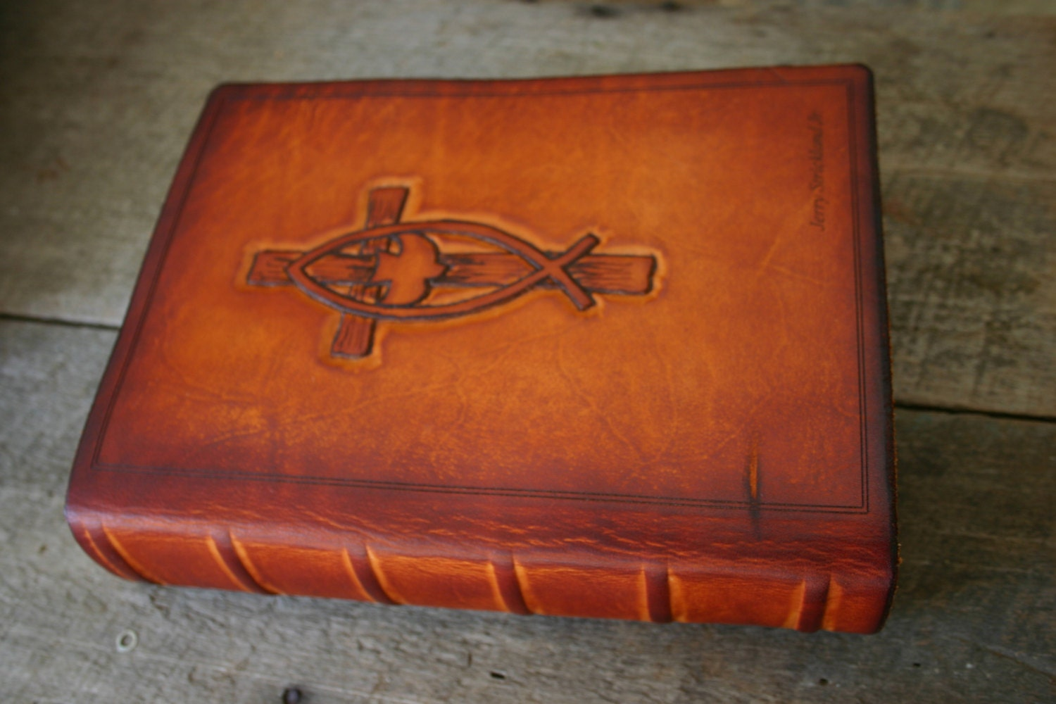 personalized leather custom bible cover