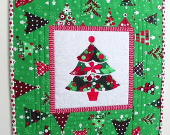 "Christmas Mini Quilt – ""Holiday Trees"""
