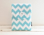 Blue Chevron iPad Air 2 Case, iPad Sleeve, iPad Cover - Padded with Pocket - Chevron Teal and White- iPad Air Case