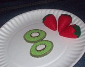 Felt Strawberry and Kiwi's