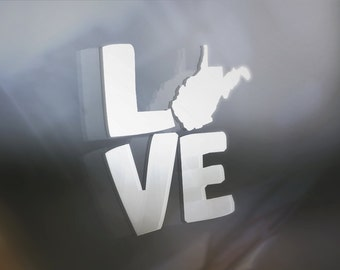 Love My State: West Virginia Window Decal