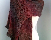 Rue shawl - blanket cape - made to order