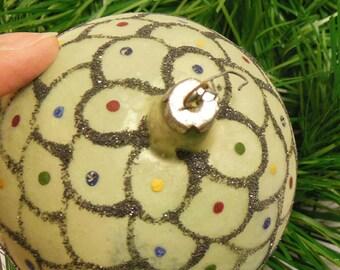 Vintage Glass Christmas Ornament ca 40-50s