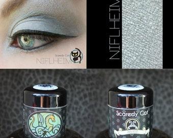 Smokey Gray Grey Mineral Eye Shadow  Scaredy Cat - Niflheim - 5 mL Sifter