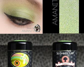 Green Eye Shadow - Vegan - Loose Mineral Pigment Eyeshadow - Scaredy Cat - AMANITA - 5 mL Sifter