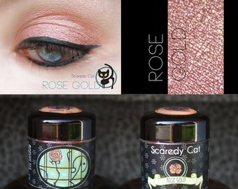 Rose Gold - Loose Mineral Pigment Eyeshadow - Scaredy Cat - ROSE GOLD - 5 mL Sifter