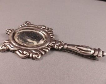 Vintage Los Castillo Sterling Taxco Mexico Mirror Brooch