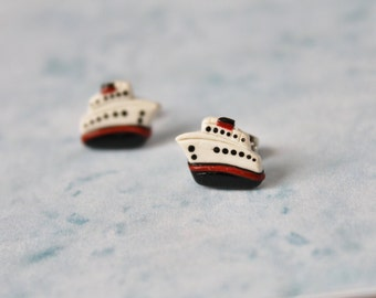 Polymer Clay Earrings... Cruise Ships