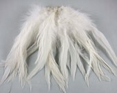 Natural white  feathers Schlappen Feathers 6 to 7 inches  craft feathers wedding feathers dream catcher feathers