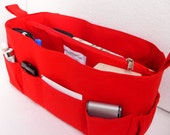 Extra Large Purse organizer for Louis Vuitton Neverfull PM - Bag organizer insert in Rich Red