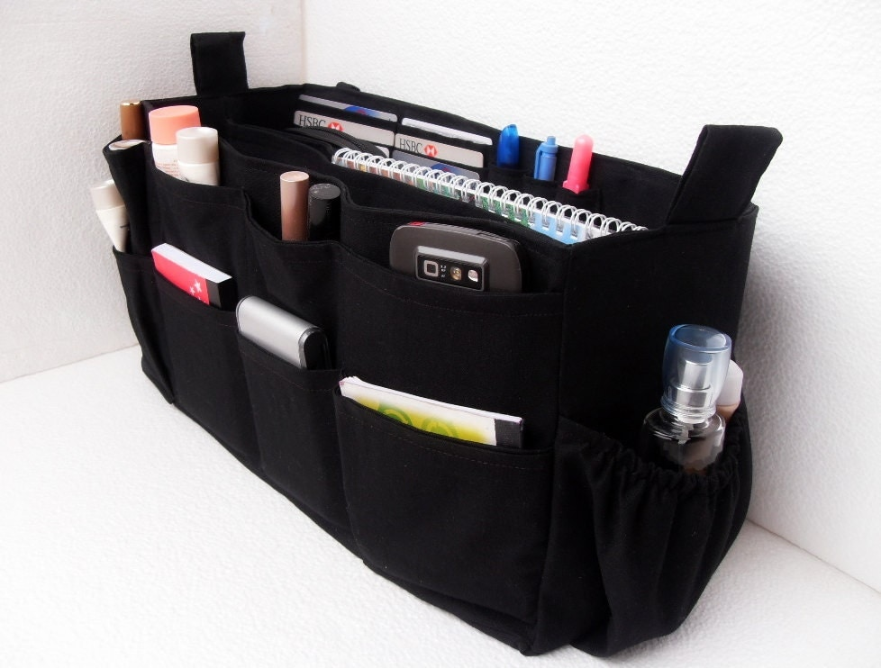 large purse organizer with laptop padded compartment