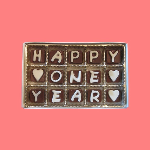 1 Year Before Wedding Gift : Year Cubic Chocolate Letters Romantic 1st One Year Anniversary Gift ...