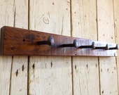 RAILWAY ~ Reclaimed Wood Coatrack Hatrack