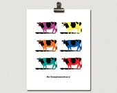 Be Complementary Purple Cow Poster Print