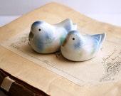 Small Porcelain Birds, Vintage Duck Figurines, Portuguese Porcelain