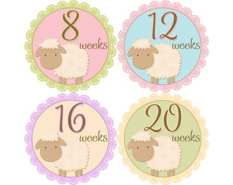 Pregnancy Announcement Photos, Belly Stickers, Pregnancy Photo Prop, Pregnancy Stickers, Pregnancy Bump Stickers, Lambs (G138-P)