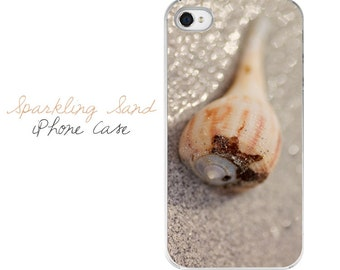 Seashell iPhone Case, Beach iPhone Case, Beach iPhone 5 Case, Seashell iPhone 5 Case, Nautical iPhone Cover, Seashell iPhone 4 Case