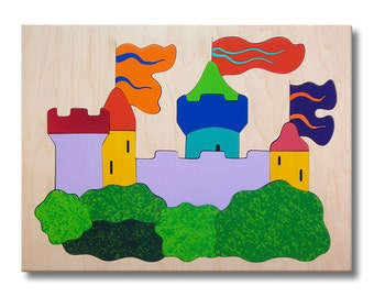 Wooden Puzzle for Children | Prince and Princess Castle