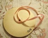 "Vintage Satin Ribbon: Spool 3/8"" Pink Trim Yardage Many Yards"