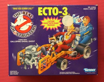 1984 RARE Ghostbusters Ecto -3 vehicle and figure with ghost to capture
