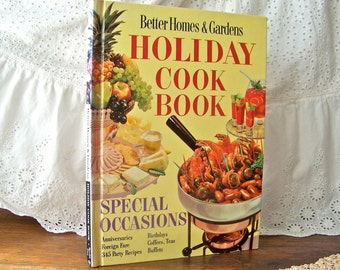 Vintage Better Homes and Gardens Holiday Cookbook 1959 Retro Cookbook Recipes Entertaining Special Occasions Holidays