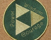 Zelda's Triforce emblem Machine embroidered Iron on OR Sew on patch