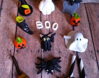 EDIBLE (Fondant Toppers) - Halloween Inspired
