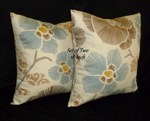 Throw Pillows Pillow Covers Decorative Pillows Cream Blue