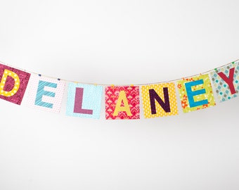 Fabric Name Banner in the DELANEY Collection