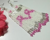 Vicky - The  Awareness Earrings ( Breast cancer)