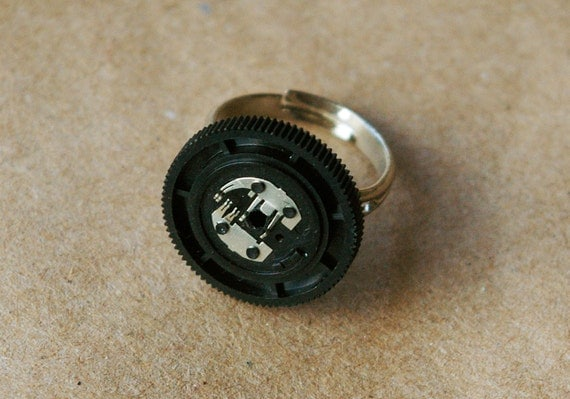 Black Sound Dial Trashion Ring